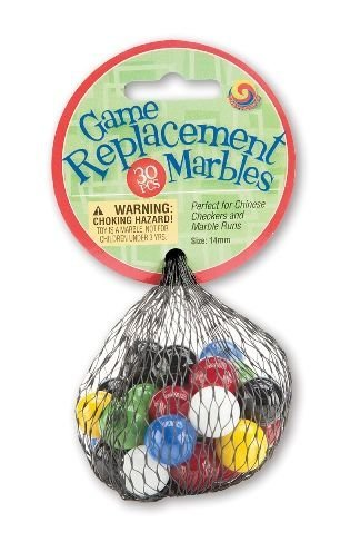 (Mega Marbles Chinese Checkers Replacement Marbles - Half Set)