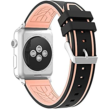 Amazon.com: Apple Watch Band, Silicone Replacement Wrist