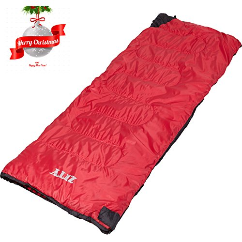 GEEK LIGHTING 4 Season Cool Weather Sleeping Bag for Camping Indoor Use Envelop Style (14-32 Degrees Fahrenheit) 3 Pounds Rectangular Cotton Sleeping Sack w/Pull-String Carry Bag ()