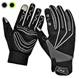 Cycling Gloves, SLB Waterproof Touchscreen in Winter Outdoor Gel Padded Breathable Bike Gloves, Adjustable Size Full Finger Warm Gloves for Men Women fit to Sports Riding Driving Climbing Skiing Fishing