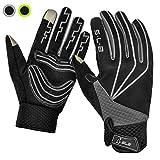 Cycling Gloves, SLB Waterproof Touchscreen in Winter Outdoor Gel Bike Gloves, Adjustable Size