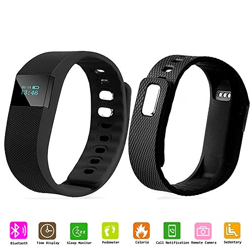 SQDeal Original Fitness Tracker Pedometer Watch Band Calories Counter Smart Sports Bracelet Wristband Activity and Sleep Monitor, Bluetooth Sync Anti-lost Long-time Standby