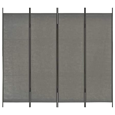 vidaXL 3-Panel Room Divider Home Decoration Folding Freestanding Foldable Privacy Panel Screen Separator Room Partition Grey Fabric