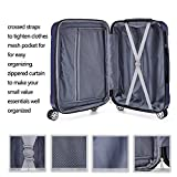 Fochier 3 Piece Expandable Spinner Luggage Set