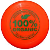 Eurodisc 175g 4.0 100% Organic Ultimate Frisbee Competition Disc not Discraft, exclusive scratch resistant print BRIGHT ORANGE