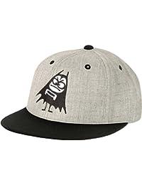 Men's Bat Snapback Hat Baseball Cap Grey/Black