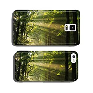 Sun rays shining through the trees in the forrest. cell phone cover case iPhone5