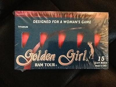 Golden Girl RAM Tour Titanium Women Golf Balls (15 Balls)