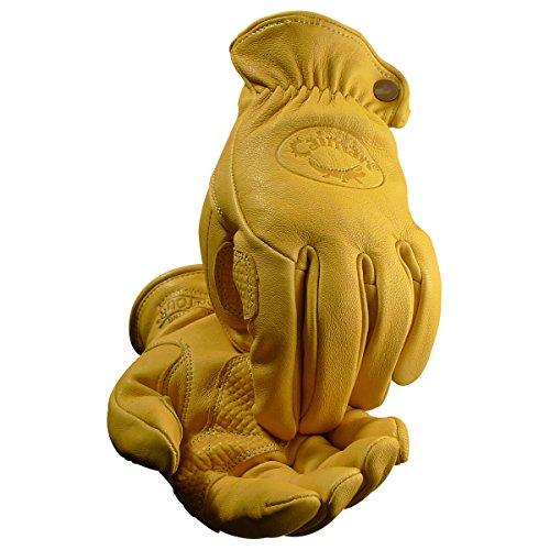 Caiman 1324-5 Gold Sheep Grain Drivers Gloves, ()