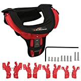 Motocross Neck Brace For Adult Motorcycle Cycling Protector Guard Off-road Riding Body Protection Gears (Black&Red)