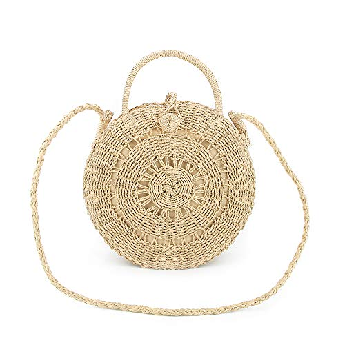 Olyphy Retro Crossbody Bag for Women, Woven Straw bag Envelope Shoulder Bag Handbag Summer Beach Purse ()