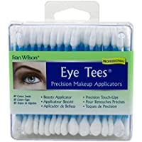 Fran Wilson Eye Tees Cotton Tips 80 Count (2 Pack) - Precision Makeup Applicator, Double-Sided Swabs With Pointed And…