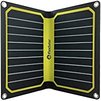 FlexSolar 11W/5V Foldable Solar Powered Phone Charger Outdoor Portable Solar Panel with USB Output for iPhone 7 6s Plus Samsung Huawei Yellow