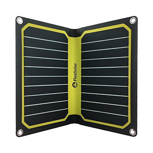 Price comparison product image FlexSolar 11W/5V Foldable Solar Powered Phone Charger Outdoor Portable Solar Panel for iPhone 7 6s Plus Samsung Huawei Yellow