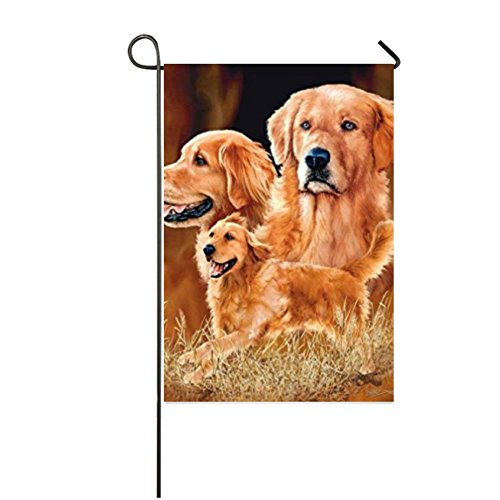 COL DOM Golden Retriever Colorful Garden Yard Decorations Holiday Seasonal Outdoor Flag Garden Flag 12