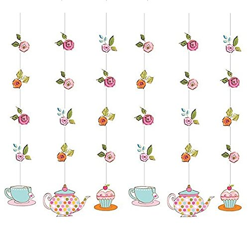 Tea Time Hanging Cutouts Danglers Party Decoration by Creative Converting (2-Pack)