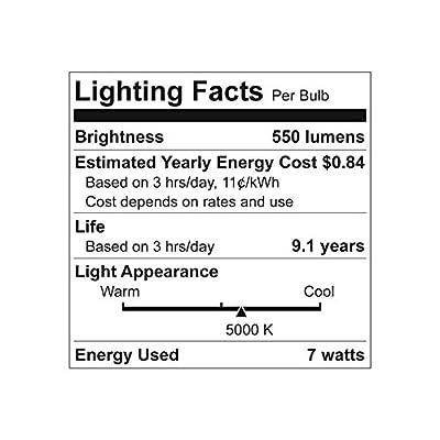 GE Lighting PAR38 LED 7-watt (45-watt Replacement), 550-Lumen PAR38 Light Bulb, Multi-Color Lenses, Medium Base, Daylight, 1-Pack