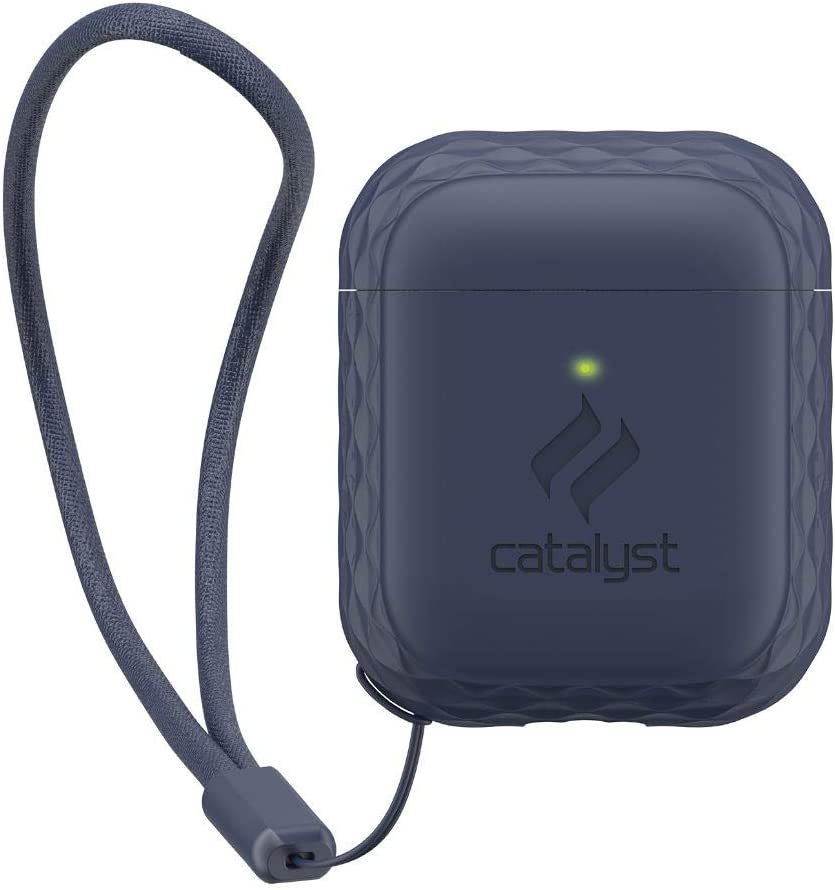 Catalyst Lanyard Case for AirPods 1 & 2 Silicone AirPods Case Cover, Lanyard Included, Extra Grippy High Gloss Surface Finish
