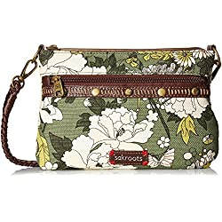 Sakroots Artist Circle Campus Mini, Olive Flower Power