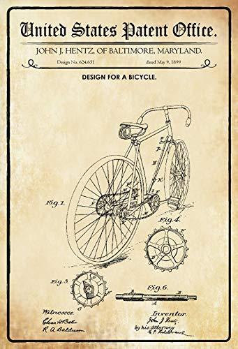 US Patent Bicicleta Bicicleta 1899 Placa de Metal Cartel de ...