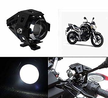 Accedre Cree U5 Bike Projector White Led Aux Light Yamaha Fz S