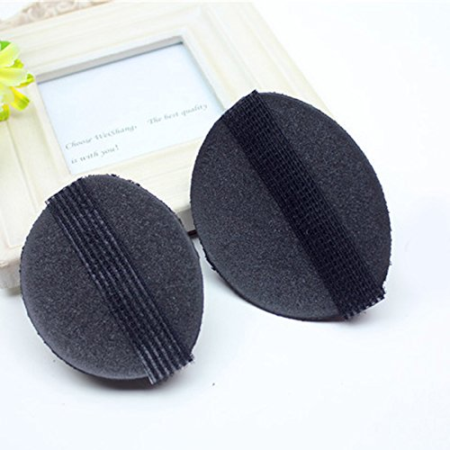 MSmask 2Pcs Hair Pad Decoration Rise Higher Women Girls Hair Accessory Self Adhesive