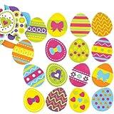 Baker Ross Easter Egg Foam Stickers for Children Creative Art Supplies & Decorations/Card Making (Pack of 125)