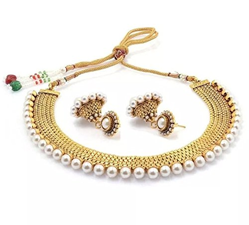 Hair & Head Jewellery Constructive Indian Bollywood Ethnic Green Matte Gold Pearl Jhumka Earring Fashion Jewelry Online Shop