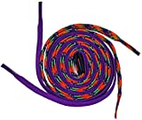 Easy Tie Shoelaces Purple/Rainbow 37'' - 94cm