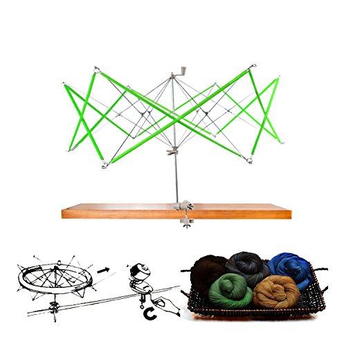 artSew Hand Operated Knitting Umbrella Swift Wool Yarn String Winder Holder Hanks Skeins Line by artSew