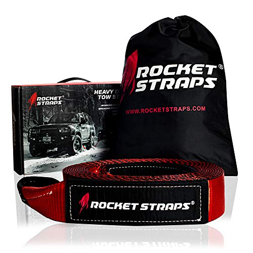 "Rocket Straps - 3"" x 30' Heavy Duty Tow Strap 