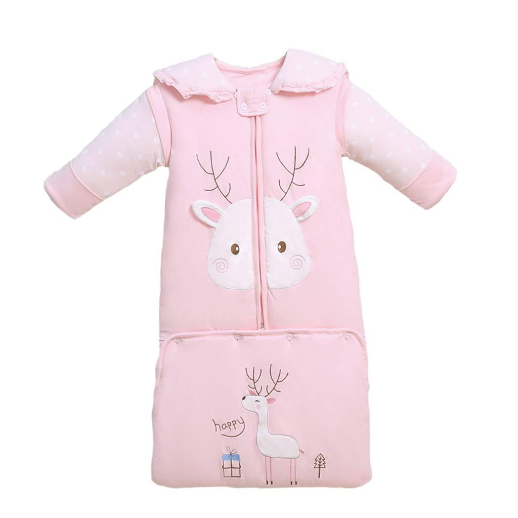 Sac de couchage pour bébé Automne Hiver Chaud Quilt Wearable Shoulderguard, Convient aux fournitures pour nouveau-né Four Seasons Universal Sleeping Bag (Couleur : Bleu, taille : 110cm)