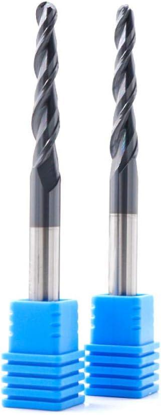 Drill Bit Sets Tungsten Solid Carbide Milling Cutter CNC Taper Ball Nose End Mill Wood Metal Cutter Router Bits Ball Nose Tapered End Mill-R1X60XD8X100L R0.75x30.5xd6x75l