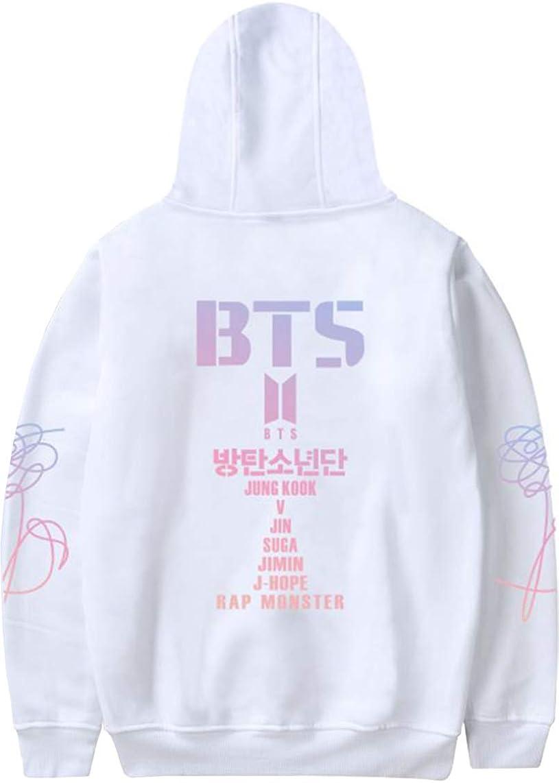 OLIPHEE BTS Kpop Sweat-Shirt Fille avec Cor/éen avec Poches