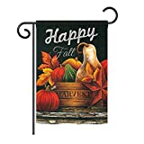 Ornament Collection GS191042-BO Autumn Happy Fall Fall Harvest & Autumn Impressions Decorative Vertical 13″ x 18.5″ Double Sided Garden Flag Set with Banner Pole Included Printed in USA Review