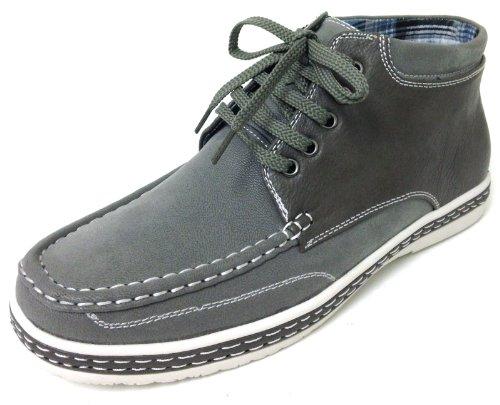 Z-1410 Manar Tillfälliga Oxfords Spets-up Kängor Mockasiner Moc Tå Mode Sneaker Boots Grå