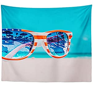 Westlake Art Wall Hanging Tapestry - Eyewear Blue - Photography Home Decor Living Room - 51x60in