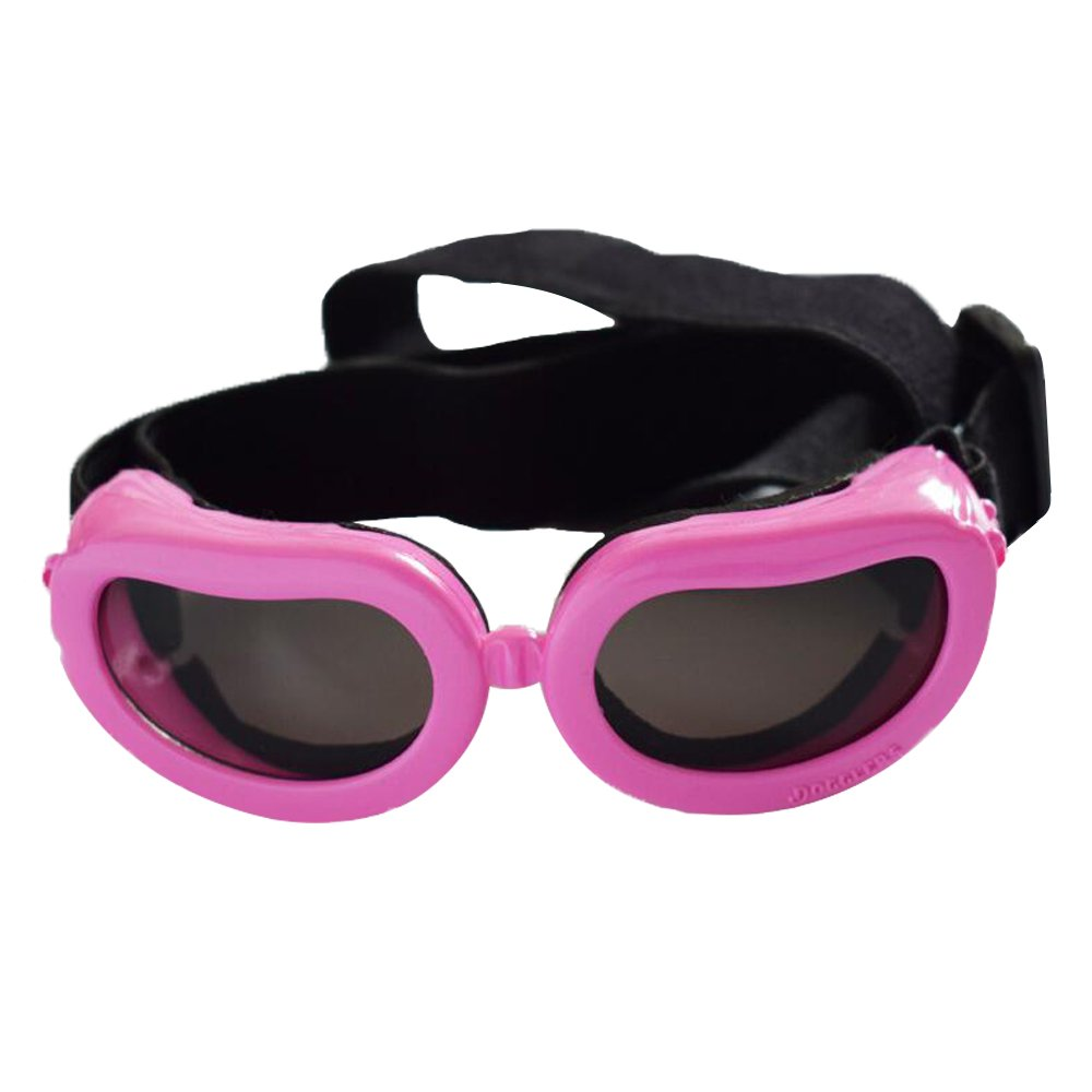 Kailian Dog Goggles Stylish Waterproof Anti-ultraviolet Sunglasses For Doggie Puppy-Pink