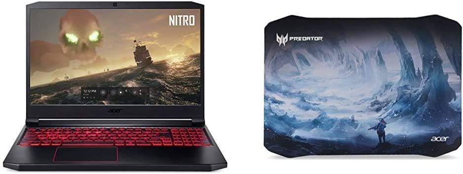"""Acer Nitro 7 Gaming Laptop, 15.6"""" Full HD IPS Display, 9th Gen Intel i7-9750H with Acer Predator Ice Tunnel Mousepad"""