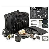 Explorer Rangemaster II - Large Black Padded Deluxe Tactical Range - Gear Bag - SIG P226 TekMat & 25 Pc Handgun Master Cleaning Kit with Patches