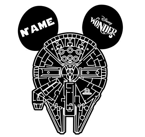 LARGE Personalized Disney Millennium Falcon Star Wars Inspired Magnet for Disney Cruise with your Name -