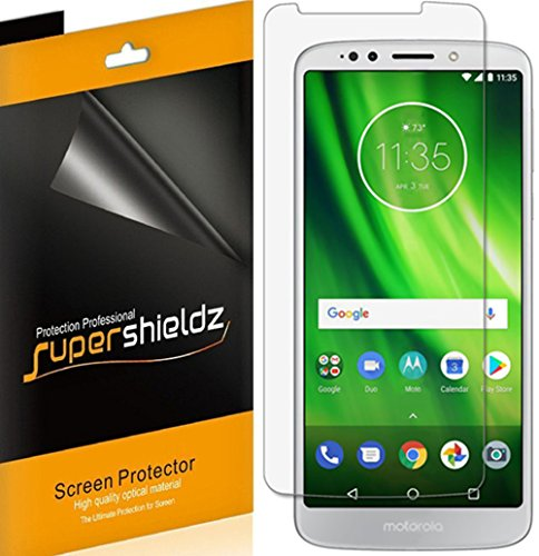 (6 Pack) Supershieldz for Motorola (Moto G6 Play) Screen Protector, High Definition Clear Shield (PET)