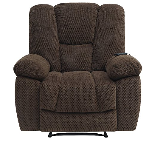 Serta Big & Tall Memory Foam Massage Recliner with USB Charg