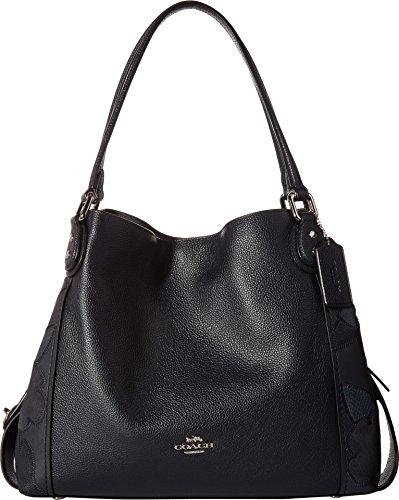 COACH Women's Patchwork Tea Rose Edie 31 Shoulder Bag Sv/Navy One Size by Coach