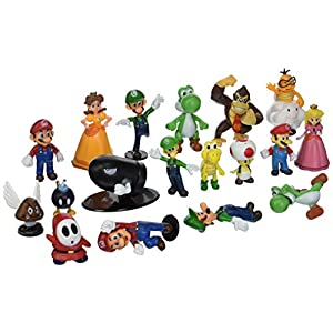 BIGOCT Super Mario Brothers Action Figures Set (18 Piece), 2""