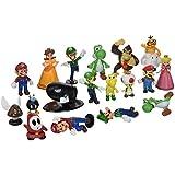 "BIGOCT Super Mario Brothers Action Figures Set (18 Piece), 2"""