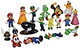 BIGOCT Super Mario Brothers Action Figures Set (18 Piece), 2''