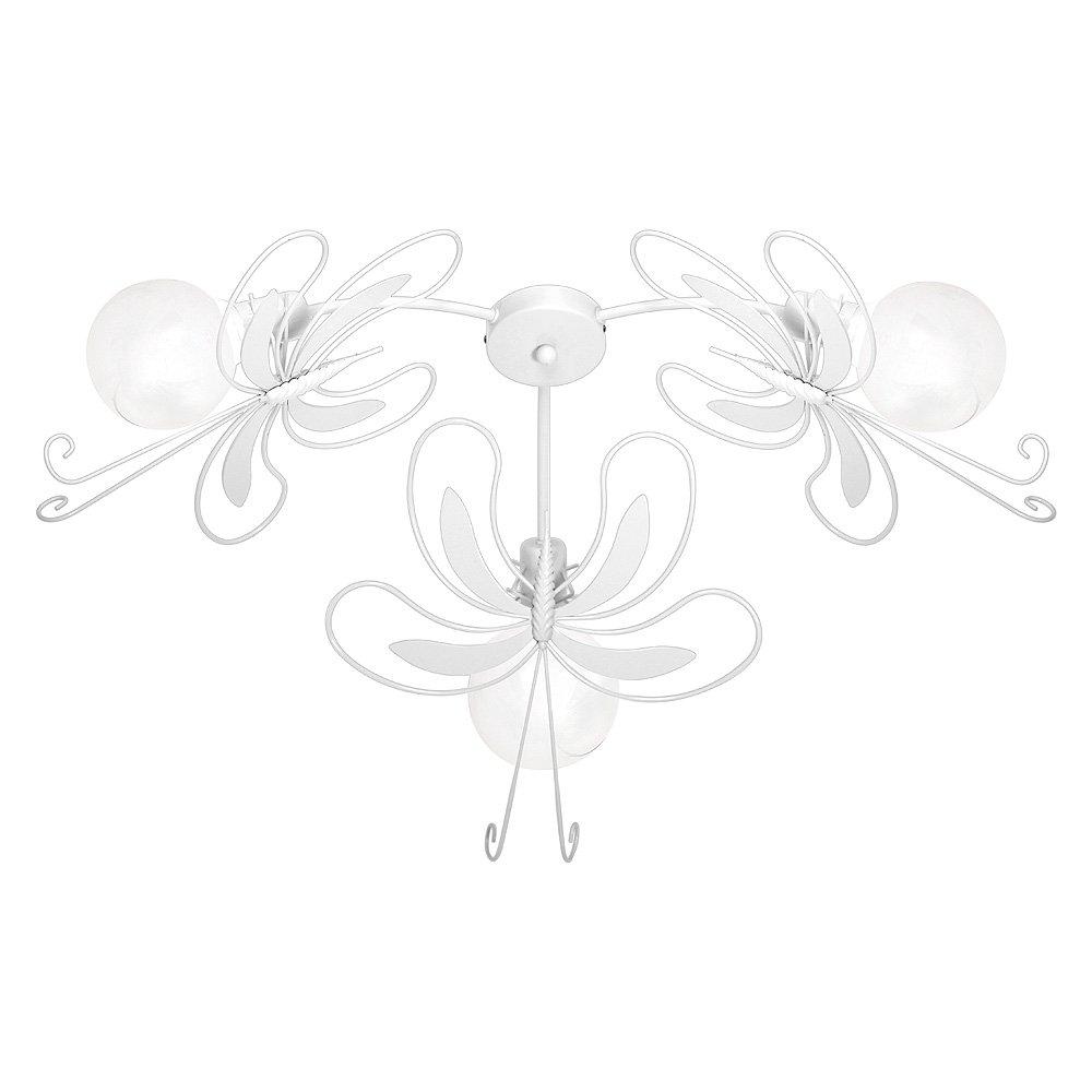 5352 Pendelleuchte aus Stahl für Kinderzimmer paz3 Schmetterling weiß.