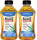 BetterBody Foods Organic Agave, All Natural Sugar Substitute, Low-Glycemic Sweetener With Natural Inulin (Fiber), 23.5 oz (Pack of 2)