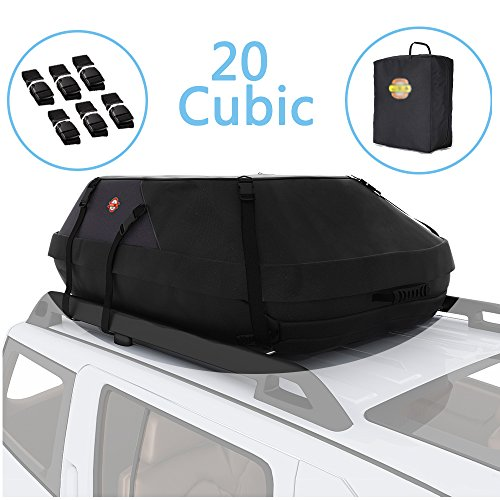 Car Top Carrier 20 Cubic Feet Waterproof Roof Top Cargo Bag